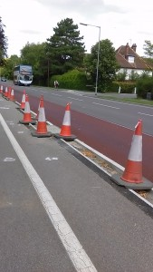 Cones on Hills Road
